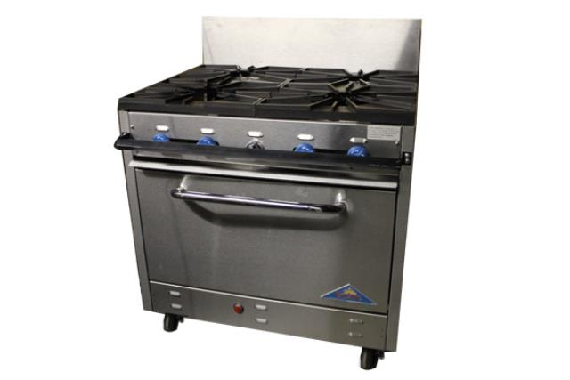 4 Burner Propane Range With Oven