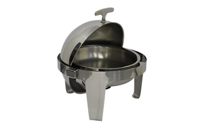 Roll-top Modern Rnd Chafing Dish 6.5 Qt