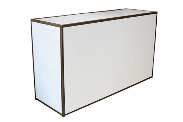 White W/gold Plexi Bar