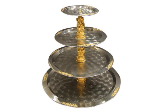 4-tier Gold Figurine Fancy Tray