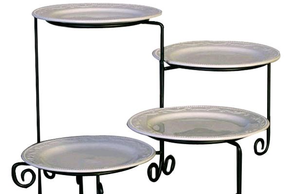 Stand, 4-tier Buffet (round)