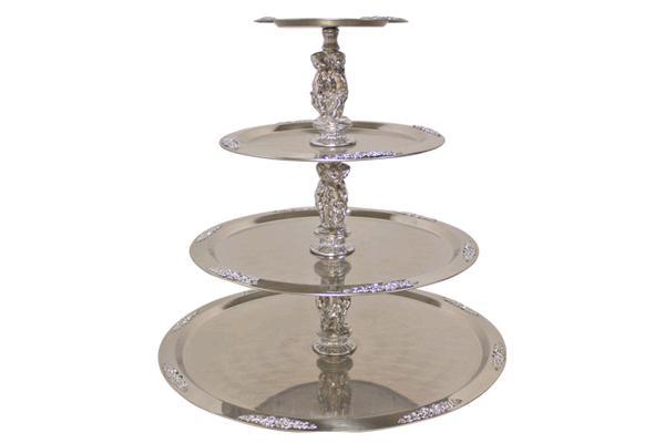 4-tier Silver Figurine Fancy Tray