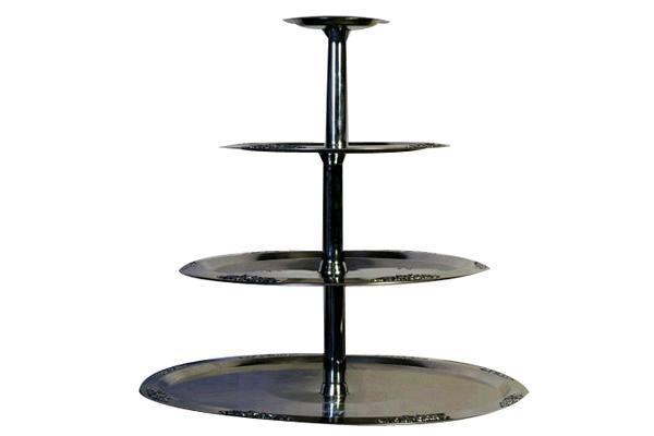 4-tier Silver Tray
