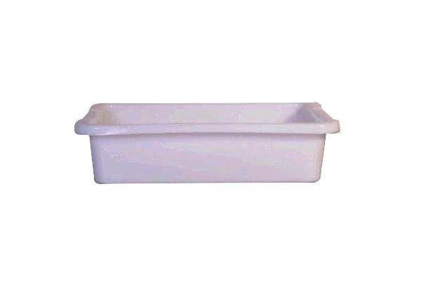 White Rubbermaid Bus Tray