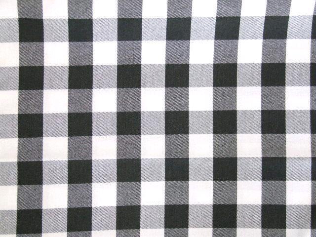 BLACK/WHITE CHECK NAPKIN