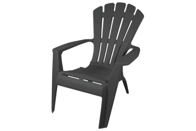 DARK GREY RESIN ADIRONDACK CHAIR
