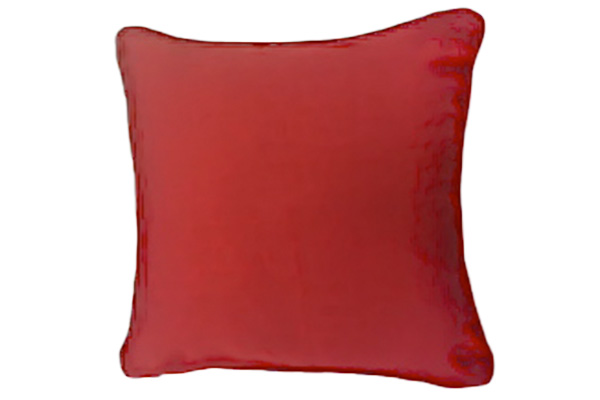 CHERRY RED CORD PILLOW