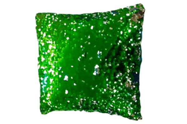 GREEN SEQUIN PILLOW