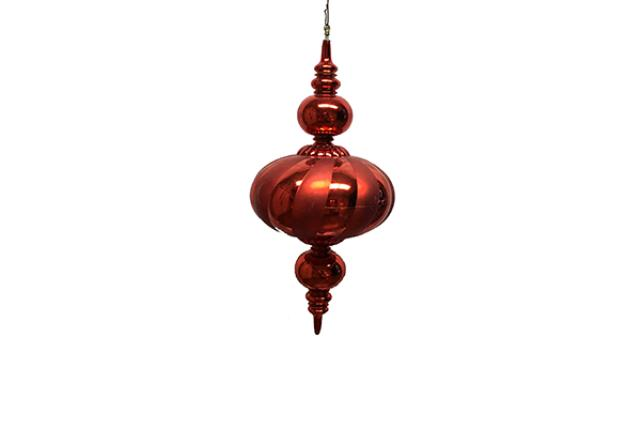 ORNAMENT, FINIAL RED 30