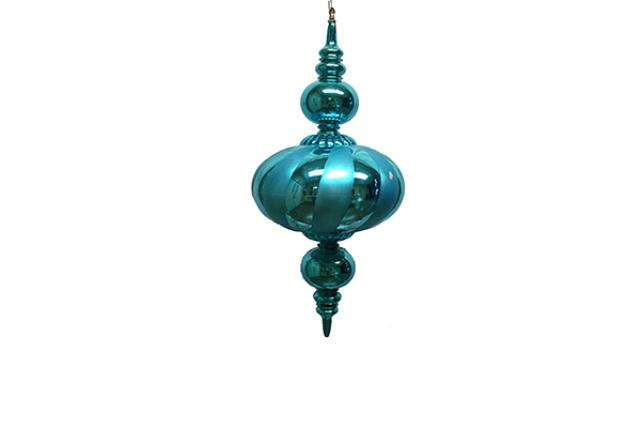 ORNAMENT, FINIAL TEAL 30