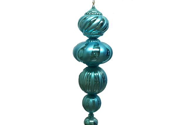 ORNAMENT, FINIAL TEAL 60