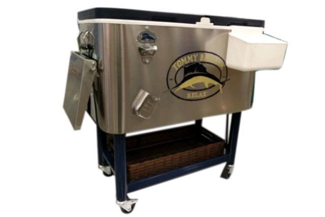 COOLER, 100 QT STAINLESS W/ CASTERS