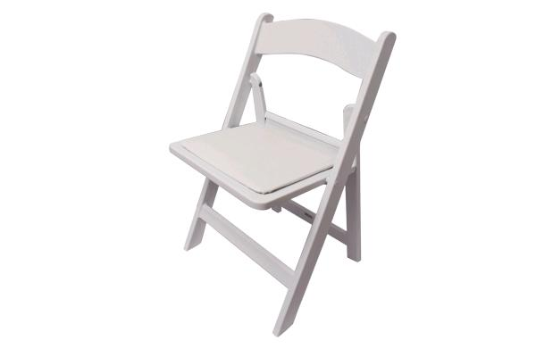 WHITE RESIN CHILDRENS FOLDING CHAIR