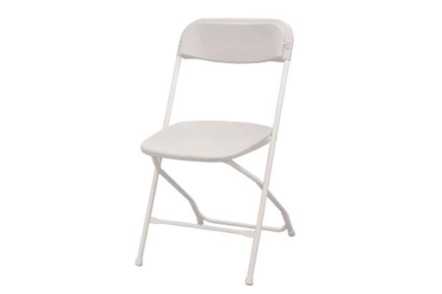 WHITE / WHITE FOLDING CHAIR