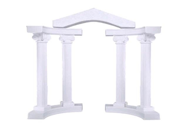 WHITE COLONNADE ARCHWAY