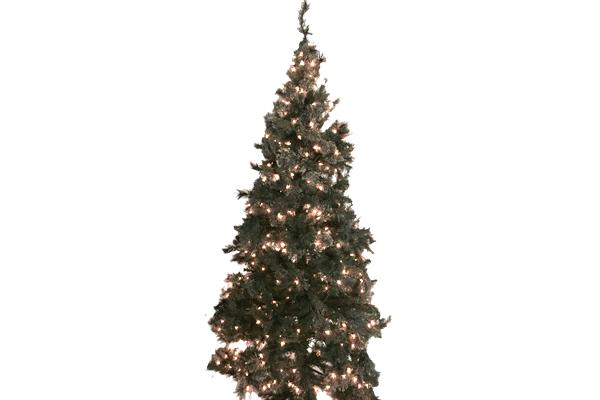 8' GREEN PRE-LIT CHRISTMAS TREE