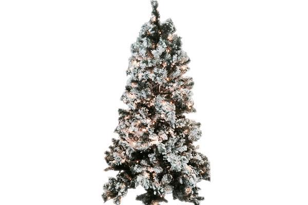 9' GREEN FLOCKED CHRISTMAS TREE