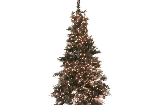 9' GREEN PRE-LIT FROSTED CHRISTMAS TREE