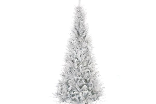 8' WHITE FLOCKED CHRISTMAS TREE