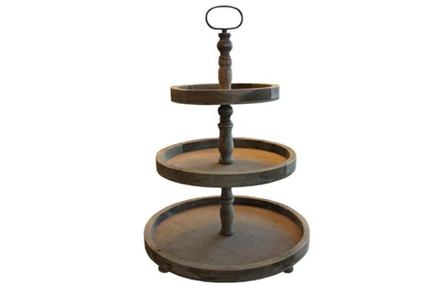 3-TIER WOOD STAND