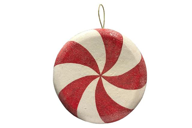 ORNAMENT, PEPPERMINT CANDY 15.5