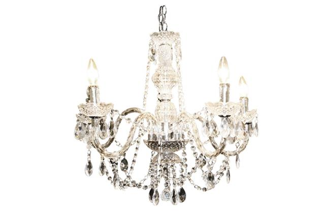 5 LIGHT GLASS CHANDELIER