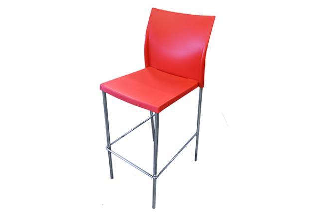 RED SOHO STOOL