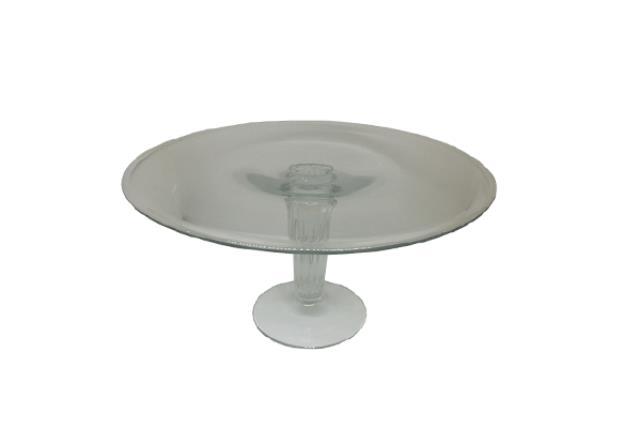 GLASS PEDESTAL CAKE PLATE (TALL)