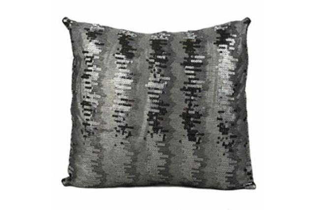 CHARCOAL SEQUIN PILLOW