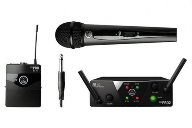 Rent Wireless W Lapel Akg Microphone Site Equipment