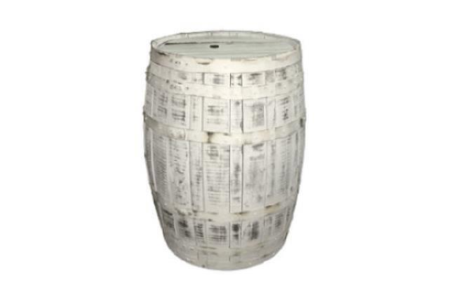 ANTIQUE WHITE WHISKEY BARREL 35