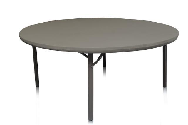 6' ROUND TABLE PREMIUM, PLASTIC TOP