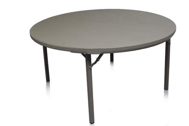 5' ROUND PREMIUM PLASTIC TOP TABLE