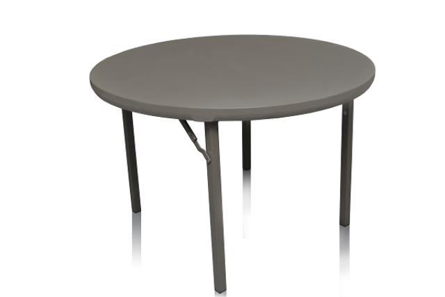 4' ROUND PREMIUM PLASTIC TOP TABLE
