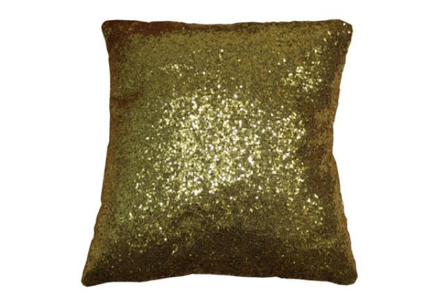 GOLD SEQUIN PILLOW (DBL SIDED)