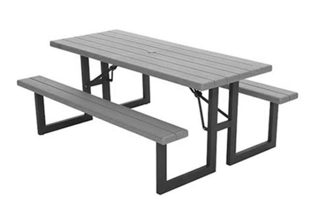 GREY PREMIUM FOLDING PICNIC TABLE