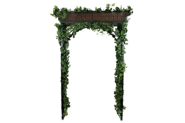 TRELLIS IVY AND WICKER ARCHWAY