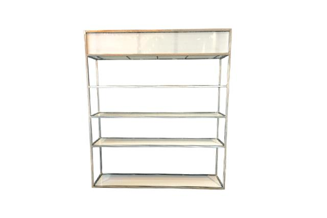 INDUSTRIAL METAL/PLEXI BACK BAR, 84