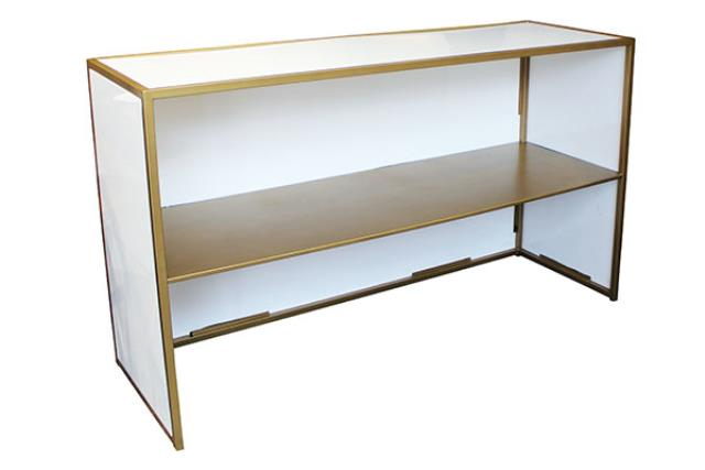 WHITE W/GOLD PLEXI BAR