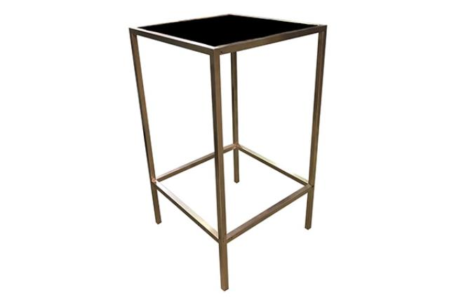 INDUSTRIAL METAL/PLEXI COCKTAIL TABLE