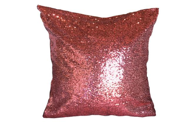 CORAL SEQUIN PILLOW
