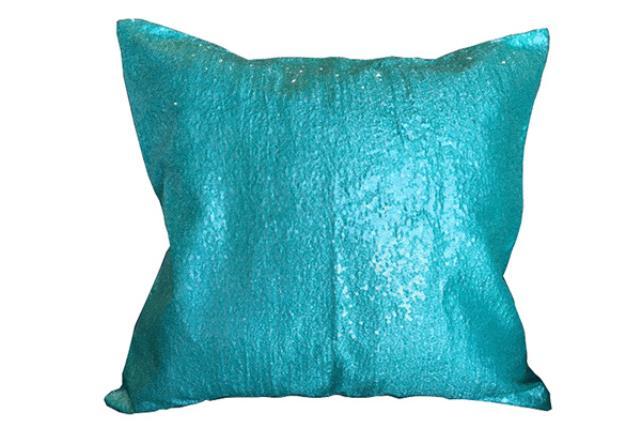 TIFFANY BLUE SEQUIN PILLOW