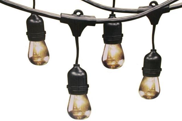 48' VINTAGE BLACK LED STRING LIGHTS (24 LIGHT)