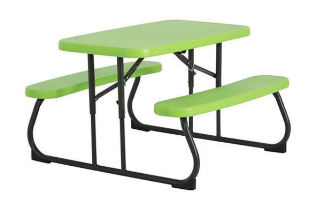 LIME GREEN FOLDING KIDS PICNIC TABLE