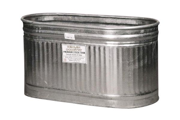 4' (77 GAL) GALVANIZED BEVERAGE TUB