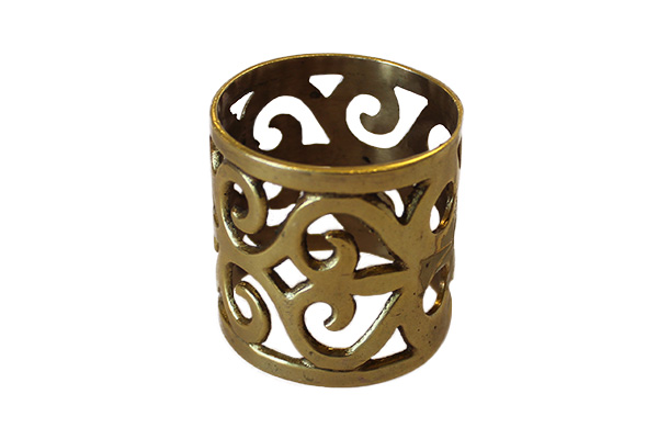 ORNATE BRASS NAPKIN RING