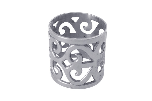 ORNATE PEWTER NAPKIN RING