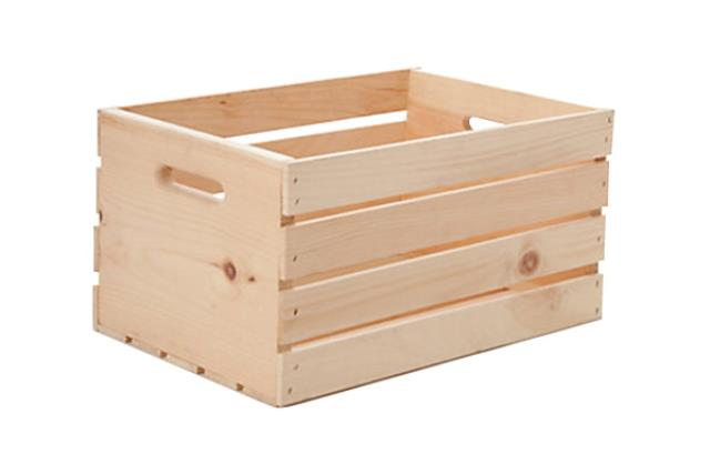 SMALL NATURAL PINE CRATE