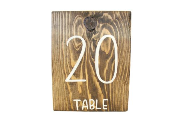 WOODEN TABLE NUMBERS (1-20)