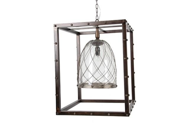 BLACK SQUARE INDUSTRIAL CHANDELIER